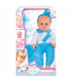 Моя первая кукла; 32см; голубая одежда