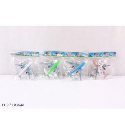 Самолет инерц. 998-1 (280шт/2) 4 вида, в пакете 11*10см