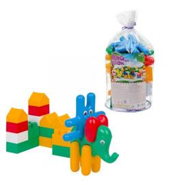 Конструктор Зоо блок №1 21 дет, заєць, слон та їх елементи