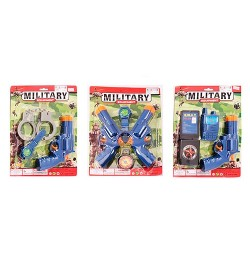 Набор военного PA2810-20-30 (240шт) пистолет17см,3в(компас,часы,наручн,рация),на листе,21,5-28,5-3с