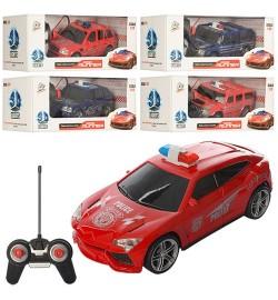 Машина 3700-31G-32G-33G (60шт) р/у,полиция,1:24,18см, свет,2вида(2цв),на бат-ке,в кор,27-12,5-10,5с