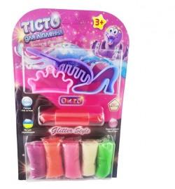 Набір для ліплення ОКТО Glitter style з блискітками (в бістер упаковці) тесто