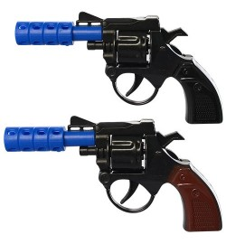 Пистолет 828-6А-7А (864шт) 14-7,5-2см, 2 цвета, в кульке, 9,5-8-2см