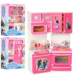 Мебель QF26212-3-4FR (18шт) FR,кухня,33см,звук,свет,продукты,посуда,3вид,бат(табл),в кор,27-35-9,5с