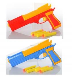 Пистолет 5200-1A (240шт) пули-присоски 4шт, 2 цвета, в кульке, 24,5-13-3,5см