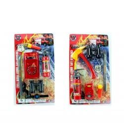 Набор пожарника 9212-9-10 (60шт) огнетушитель,лом,бинокль,2вида,на листе,31-55,5-5см