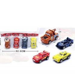 Машинка 546-1 (480шт) ТЧ, инер-я, 9см, 4вида. в кульке, 9-5-4см