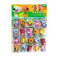 Фигурка 20702 (288шт) животные, 7см, карточка 3шт, в кульке, 16шт на листе, 50-36-4см
