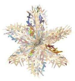 Снежинка 3D фольга 40см J01734 (1200шт)