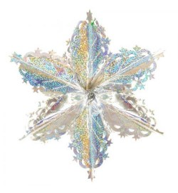Снежинка 3D фольга 40см J01736 (1200шт)