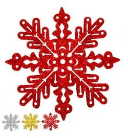 Снежинка золотая 8см 3шт/уп J01172 (1800уп)