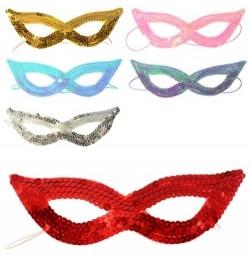 Аксессуары для праздника X11395 (300шт) карнавальная маска на резинке18см, 6цветов, в кульке, 19-9с