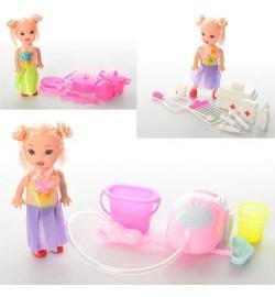 Кукла MD900-12-16-26 (180шт) 10см, 3вида(посудка,набор для уборки,набор доктора),в кульке,8-3,5-2см