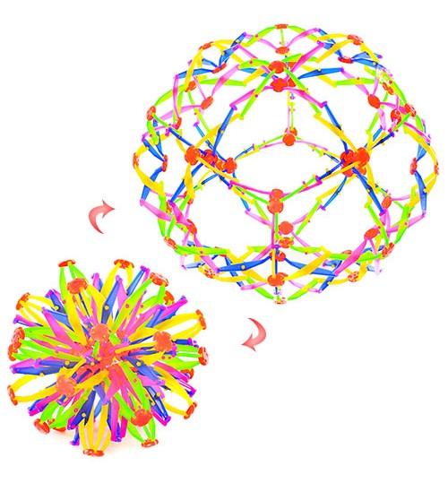 Мяч Y-557 (160шт) трансформер, 15см, в кульке, 32-32-32см