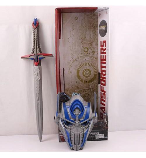 Набор оружия 808-2 (24шт) TF, маска, меч 57см, звук, свет, на бат(таб) в кор-ке, 59,5-22,5-10см