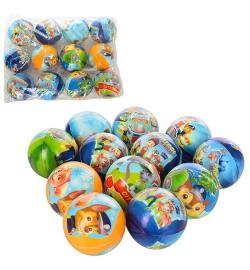 Мяч детский фомовый MS 1460 (120шт) ЩП, 7,6см, 6 видов, 12шт в кульке, 28-21-7см