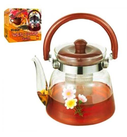 Чайник-заварник стекло 1200мл MS-0134 (24шт)