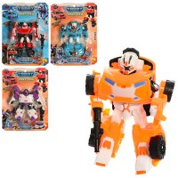 Трансформер 5811-13 (60шт) TBT, робот+машинка, 14см, оружие, 4вида,  на листе, 21-30-6см