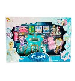 Кассовый аппарат 35566 (8шт) 29см,калькул,сканер,микроф,звук,свет,аксесс,бат,в кор,53-37-9,5см