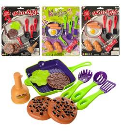 Посуда P3014-P2814 (120шт) сковородка, кухон.набор,продукты,2вида(2цвета),на листе,25-34-3см
