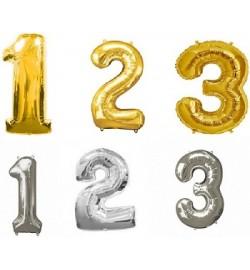 Шарики надувные фольгированные MK 1347 (300шт) 30дюймов,цифры(1, 2, 3),2цвета