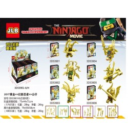 Конструктор JLB NINJAGO MOVIE 3D53901-06 (576шт/2) 6 видов, в кор. 8.6*3.5*12.2см
