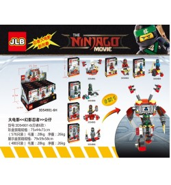 Конструктор JLB NINJAGO MOVIE 3D54901-06 (576шт/2) 6 видов, в кор. 8.6*3.5*12.2см