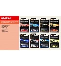Машина HOT WHEELS 02479-1 Porsche (360шт/2) М 1:64, на планшетке 15*12см