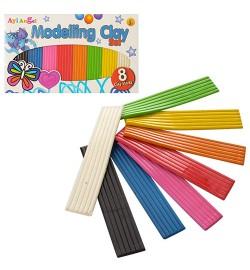 Пластилин MK 1445 (144шт) 8цветов, в кор-ке, 17,5-10,5-1см