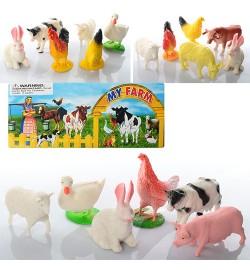 Животные 828-10-11-13 (192шт) домашние, от 5до 8см, 3 вида, в кульке, 19-20-3см