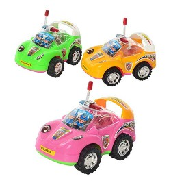 Машинка S 888-1 (360шт) заводная, свет, 3 цвета, 13-8,5-7см