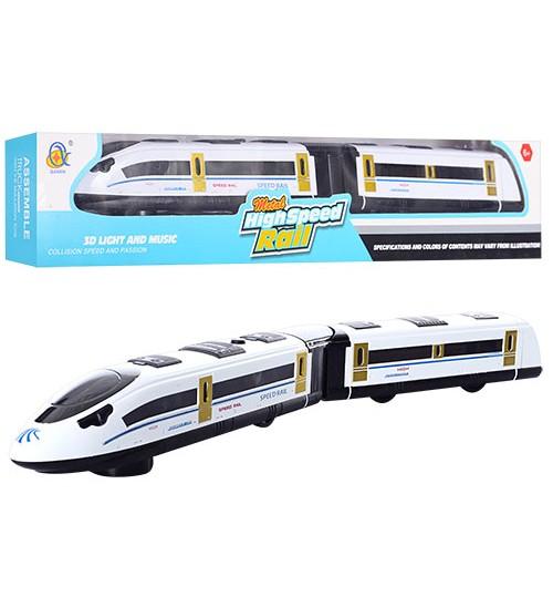 Поезд 595-C-2 (24шт) 45см, ездит, звук, 3D свет, на бат-ке, в кор-ке, 50-9-5см