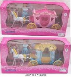 Карета SS004/04B (24шт/2) 2 вида,с куклой, лошадкой, в кор.40*18*13см