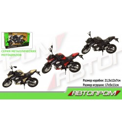 Мотоцикл метал-пластик.инерц 7751 (72шт/3)