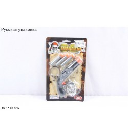 RUS Пиратский набор оружия PLAY SMART 0114 лист.15,5*26 ш.к./240/