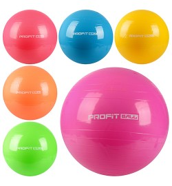 Мяч для фитнеса-55см MS 0381 (36шт) Фитбол, резина, 700г, 6 цветов, в кульке, 15-12-7см
