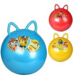 Мяч для фитнеса MS 1583 (25шт) ЩП, 40см, 350г, ушки, 3вида, в кульке, 14-17-5см