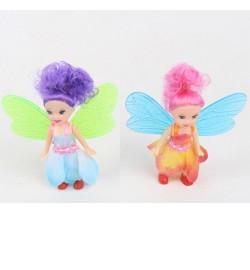 Кукла 2220 (180шт) фея, 10см, микс цветов, в кульке, 10-10-2см