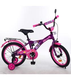 Велосипед детский PROF1 14д. T1463 (1шт) Original girl,фиолетов.-розов.,звонок,доп.колеса