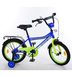 Велосипед детский PROF1 14д. Y14103 (1шт) Top Grade, синий,звонок,доп.колеса