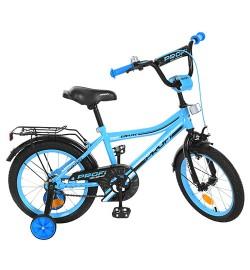 Велосипед детский PROF1 14д. Y14104 (1шт) Top Grade,бирюзовый,звонок,доп.колеса