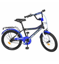 Велосипед детский PROF1 20д. Y20101 (1шт) Top Grade, черный(мат),звонок,подножка