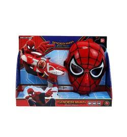 Набор супергероя 530-F (36шт) СП, маска, пистолет18см-звук, свет, на бат(таб), в кор-ке, 35-25-7см