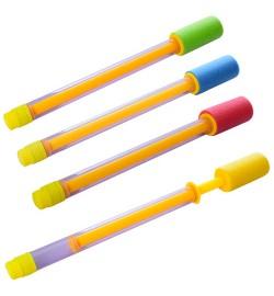 Водяной насос M 0852 (192шт) 36,5см, диам.2,5см, фомовая ручка(диам.4см), 4цвета, без упаковки