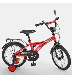 Велосипед детский PROF1 16д. T1631 (1шт) Racer,красный,звонок,доп.колеса