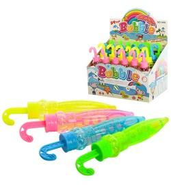 Мыльные пузыри 1010 (12уп по 24шт)зонтики, 4 цвета,в боксе 14*19,5*13,5см
