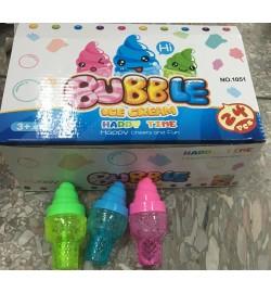 Мыльные пузыри 1051 (9уп по 24шт)мороженое, 3 цвета, в боксе 9*24,5*16см