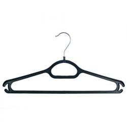 Вешалка пластик для верхней одежды черная 45см ПП-ВО3-В (100шт)