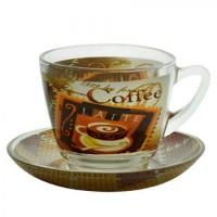 Сервиз чайный стекло 12пр/наб 250мл 16794-ZS15407T (8уп)