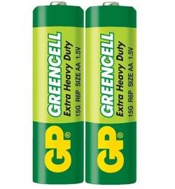 Батарейки GP  15G-S2  Greencell R6, AA, трей 2/40